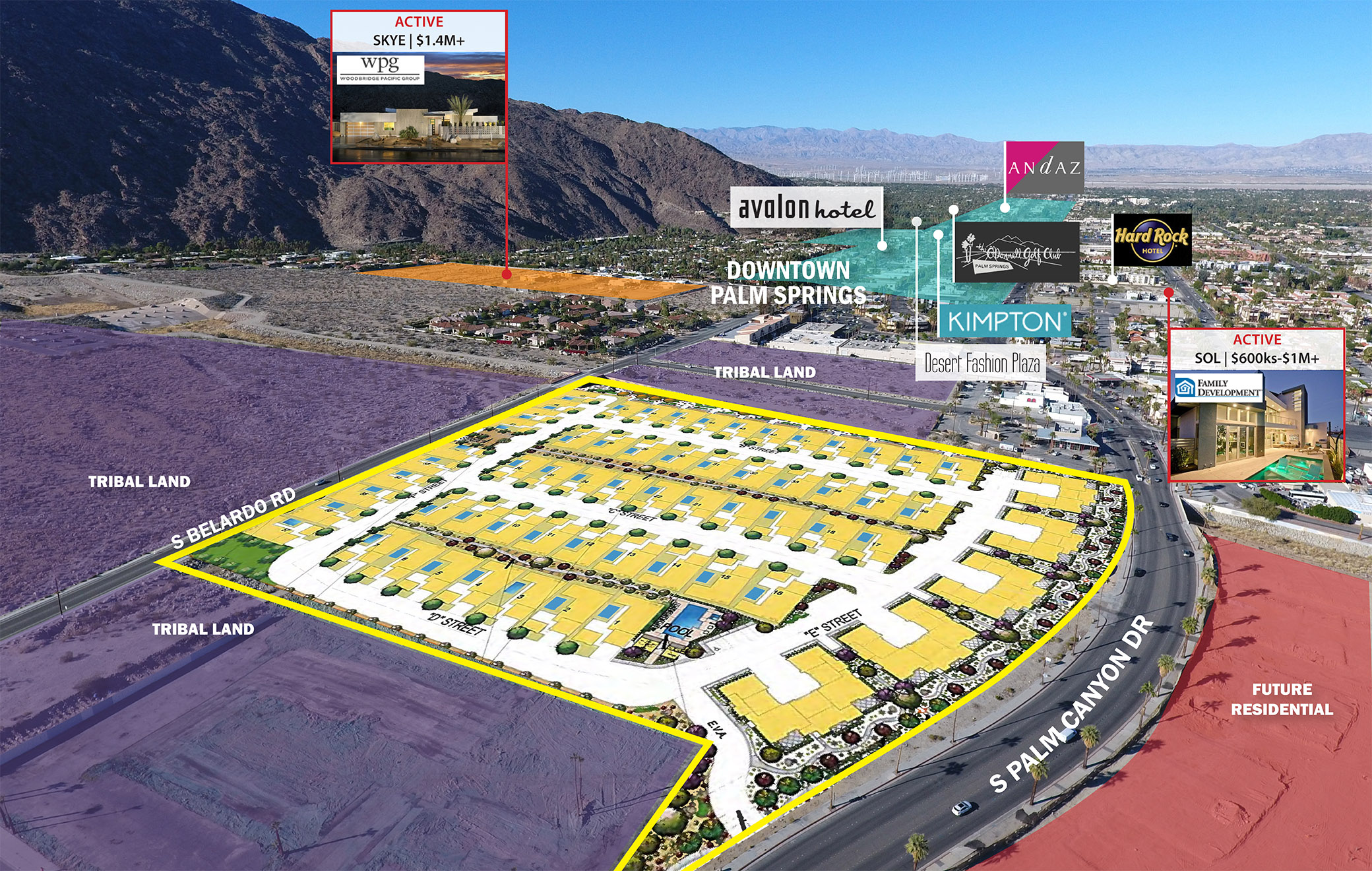 Palm Canyon 81 Approved Lots A Infill Location Palm Springs Ca