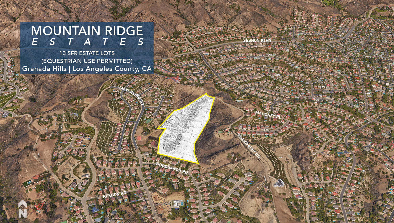 Mountain Ridge Estates | 13 SFR Estate Lots | Granada Hills ... on van nuys ca map, san fernando ca map, la tuna canyon ca map, united states ca map, conejo valley ca map, santa clarita ca map, lake forest ca map, cardiff by the sea ca map, downey ca map, east la ca map, la conchita ca map, arrowbear ca map, puente hills ca map, verdugo hills ca map, hammil valley ca map, goffs ca map, feather falls ca map, north hills ca map, 91354 zip code map, whitethorn ca map,